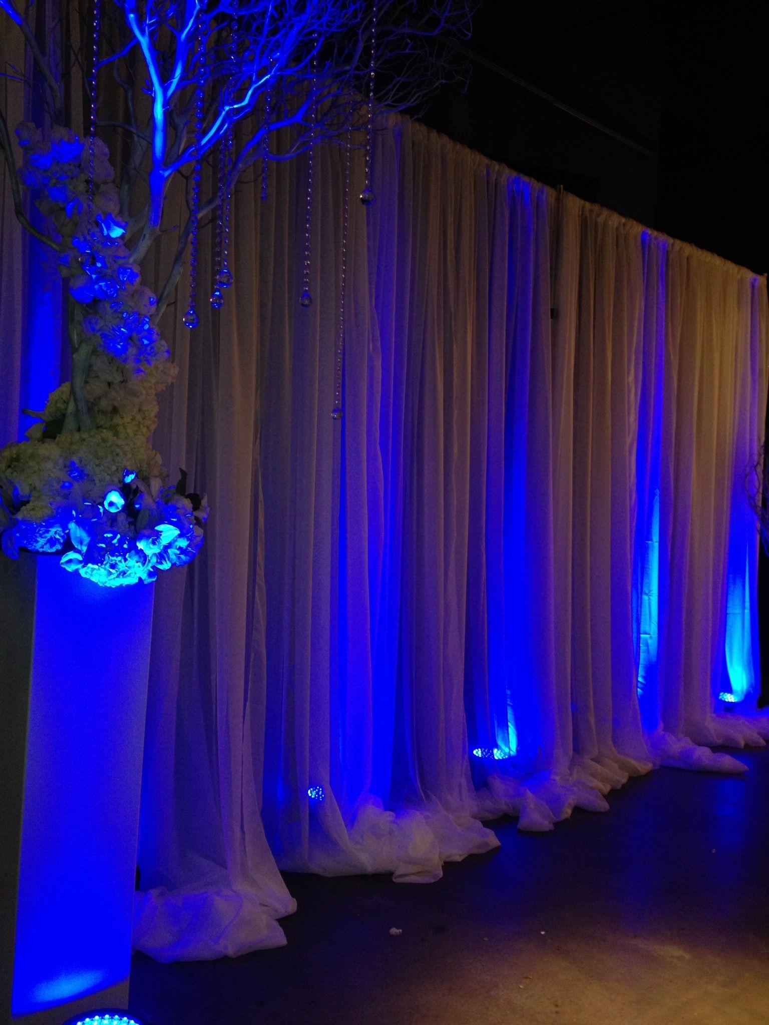 Wedding Draping & Uplighting. KC Events & Florals, Houston