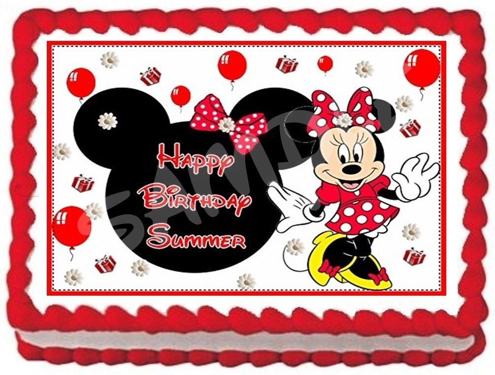Minnie Mouse Cake Topper Party City