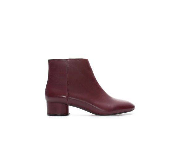 ZARA - WOMAN - PLAIN LEATHER ANKLE BOOT