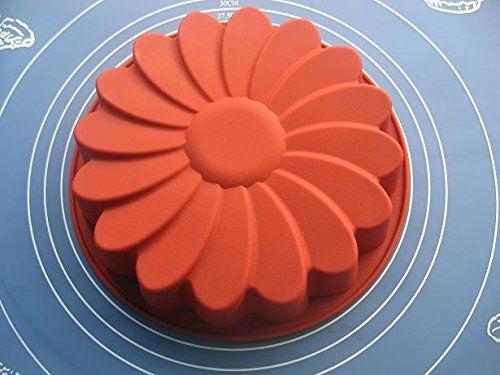 "9/"" Sunflower Birthday Cake Pan Bread Pizza Gelatin Salad Shallow Silicone Mold"
