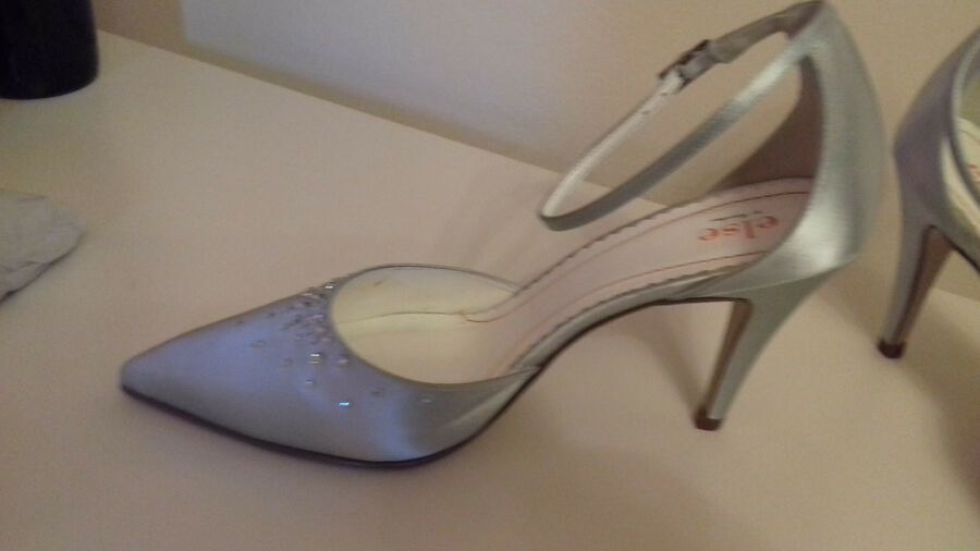 Mother Of The Bride Wedding Shoes Silver Grey With Diamante