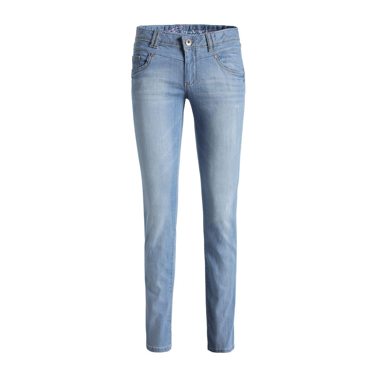 Leichte Stretch Used-Jeans von edc by Esprit