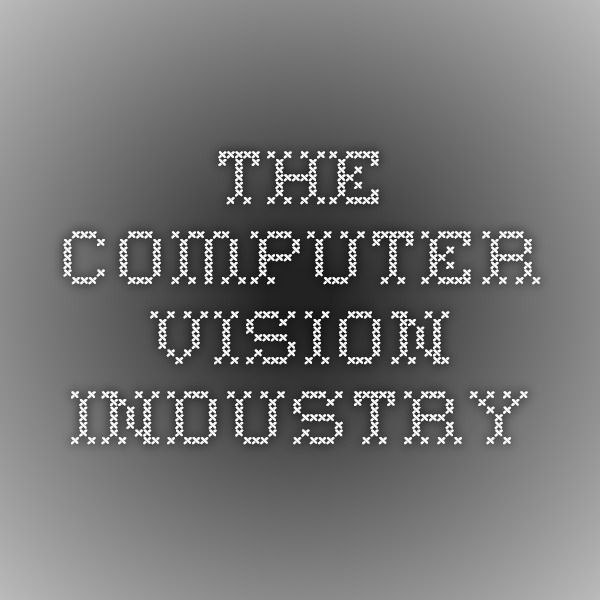 The Computer Vision Industry