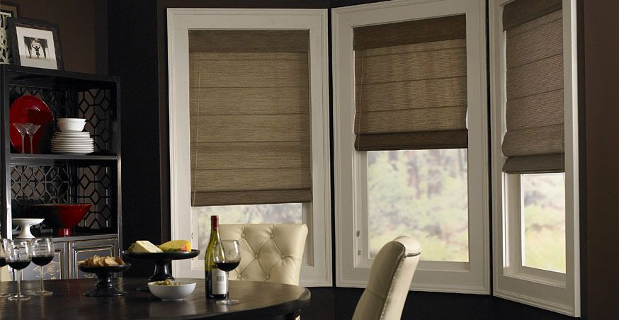 Dining Room Window Blinds 3 Day Blinds Roman Shades  In Fabrics Sheer To Opaque These