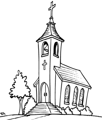 Coloring Sheet Church With Steple Yahoo Image Search Results