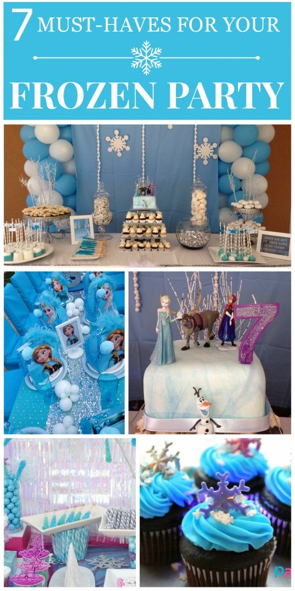 7 must-haves at your Disney Frozen party! See more party ideas at CatchMyParty.com.