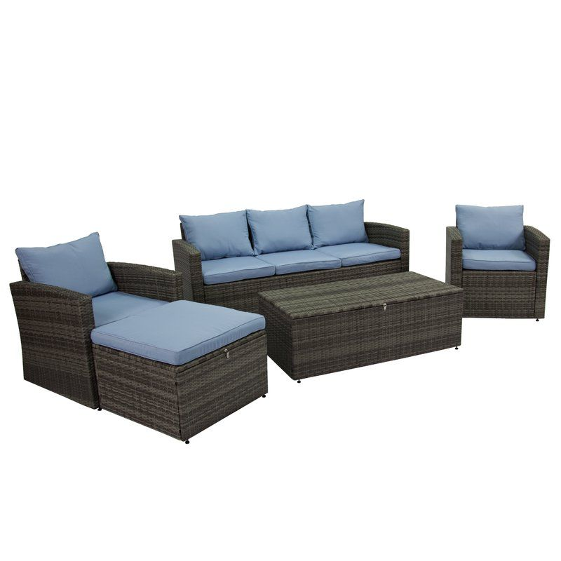 Best Arlington 5 Piece Sofa Seating Group With Cushions 640 x 480