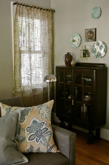 burlap window treatment to let the light in but hide the neighbors house #burlapwindowtreatments burlap window treatment to let the light in but hide the neighbors house #burlapwindowtreatments