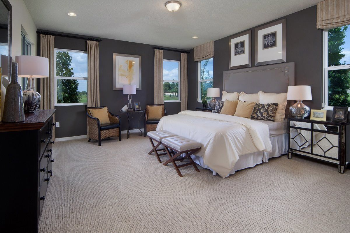New Homes In Winter Garden, FL   Orchard Park 2127 Master Bedroom