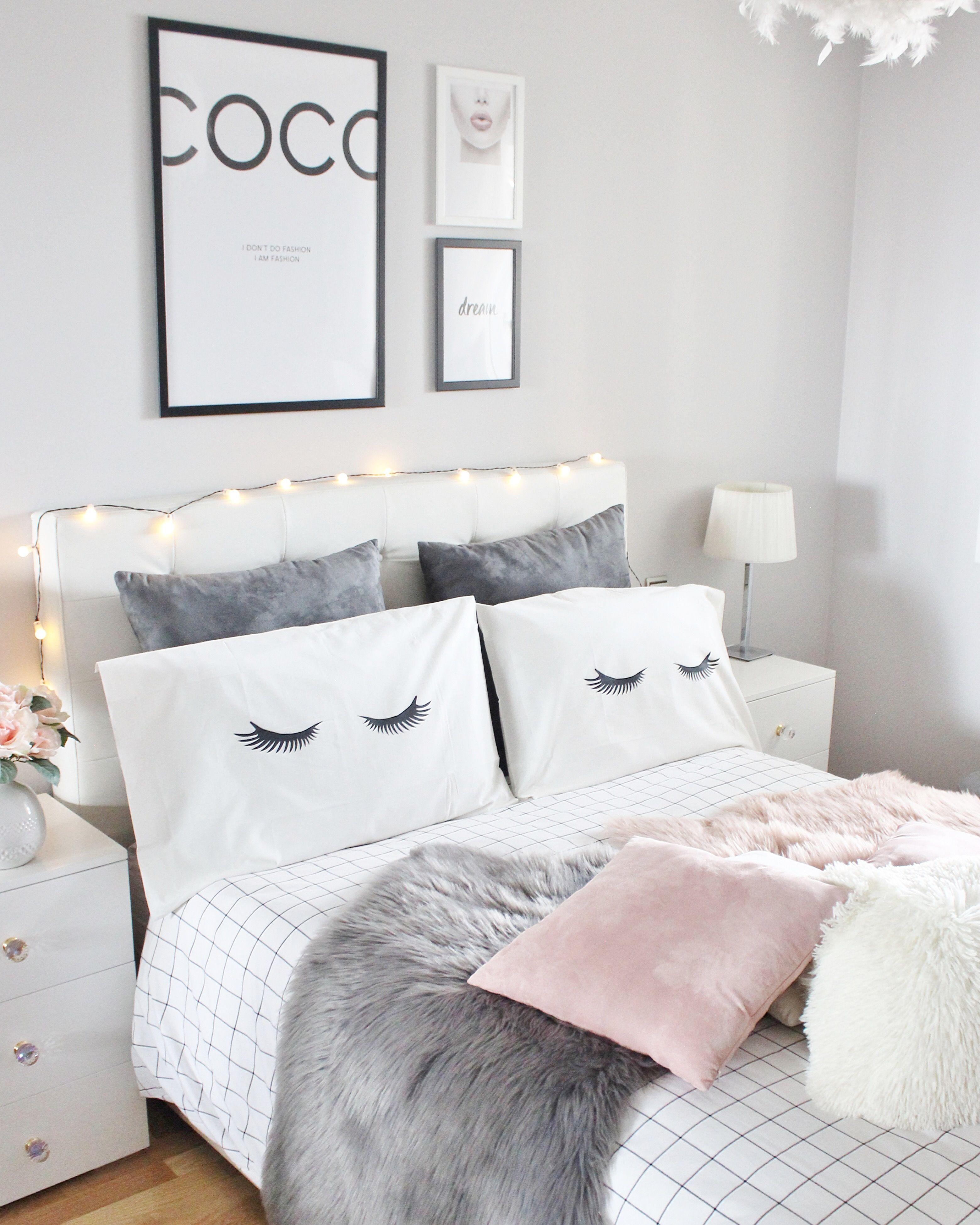 Gris Chambre Ado Fille instagram @laura.e.sanz | idée chambre, décoration chambre