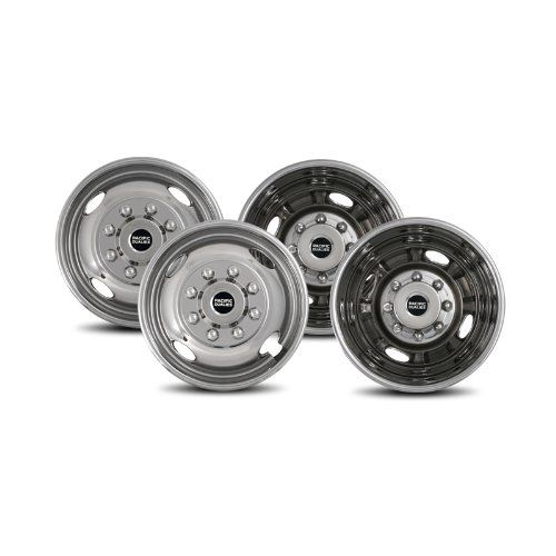 Pacific Dualies 43 1608 Polished 17 Inch 8 Lug Stainless Steel Wheel Simulator Kit For 2005 2019 Ford F350 Truck Visit Th In 2020 Steel Wheels 16 Inch Wheels Steel