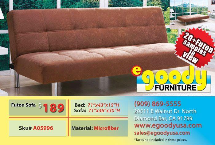 futon sofa bed brown
