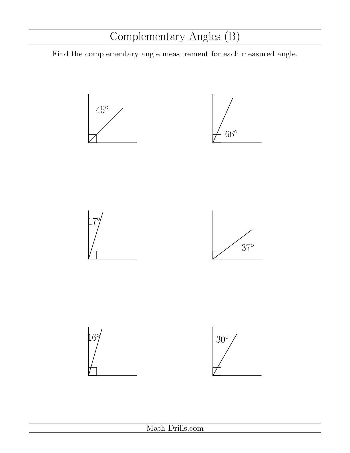 Angle Pair Relationships Worksheet Plementary Angle