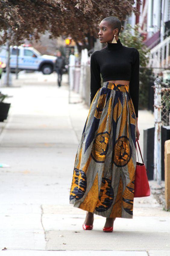 a4c1794fd9c5 Ooooh that skirt Robe Wax, Tissu Africain, Tenue Africaine, Mode Ethnique,  Style