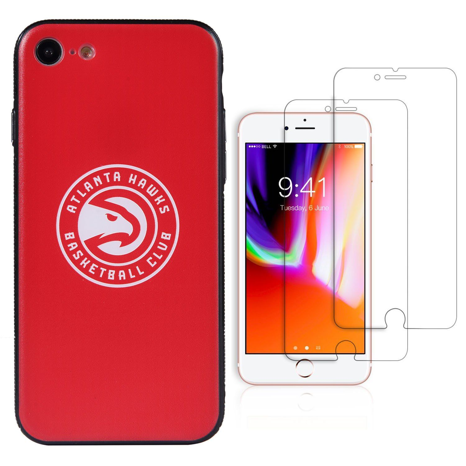 The kit includes 1 piece NBA Team Logo iPhone 7/8 case