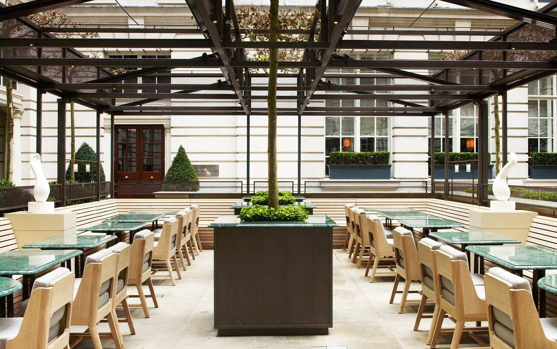 Rosewood Hotel London Terrace Rosewood London Outdoor Restaurant Patio Courtyard Design