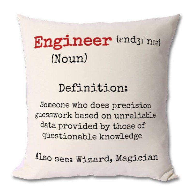 Engineer humor cushion engineer giftselectrical etsy