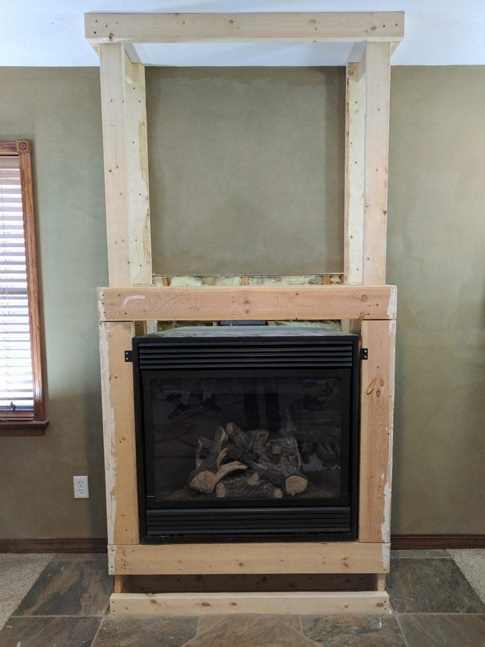 Stacked Stone Fireplace Remodel | Installing Stone Veneer