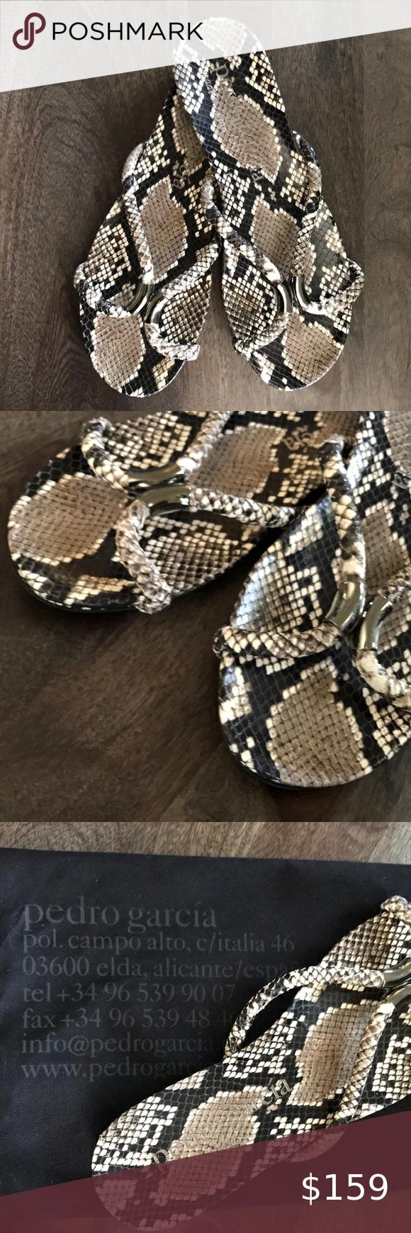 Pedro Garcia Snake Print Sandals sz 41 NWOT Pedro Garcia Snake Print Sandals sz …