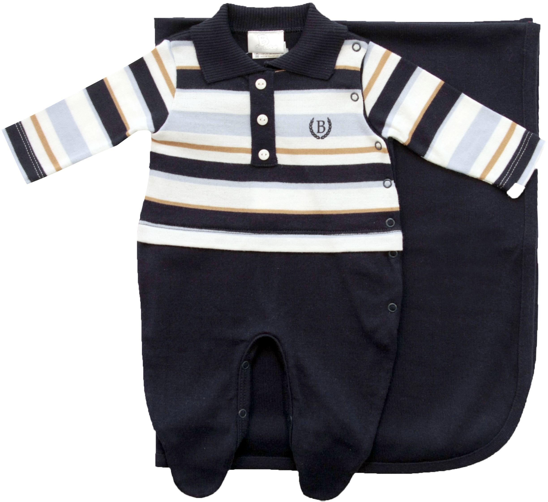 ecdcc9d14f Saída Maternidade Listrada Polo Menino B de Bebê Noruega Baby ...