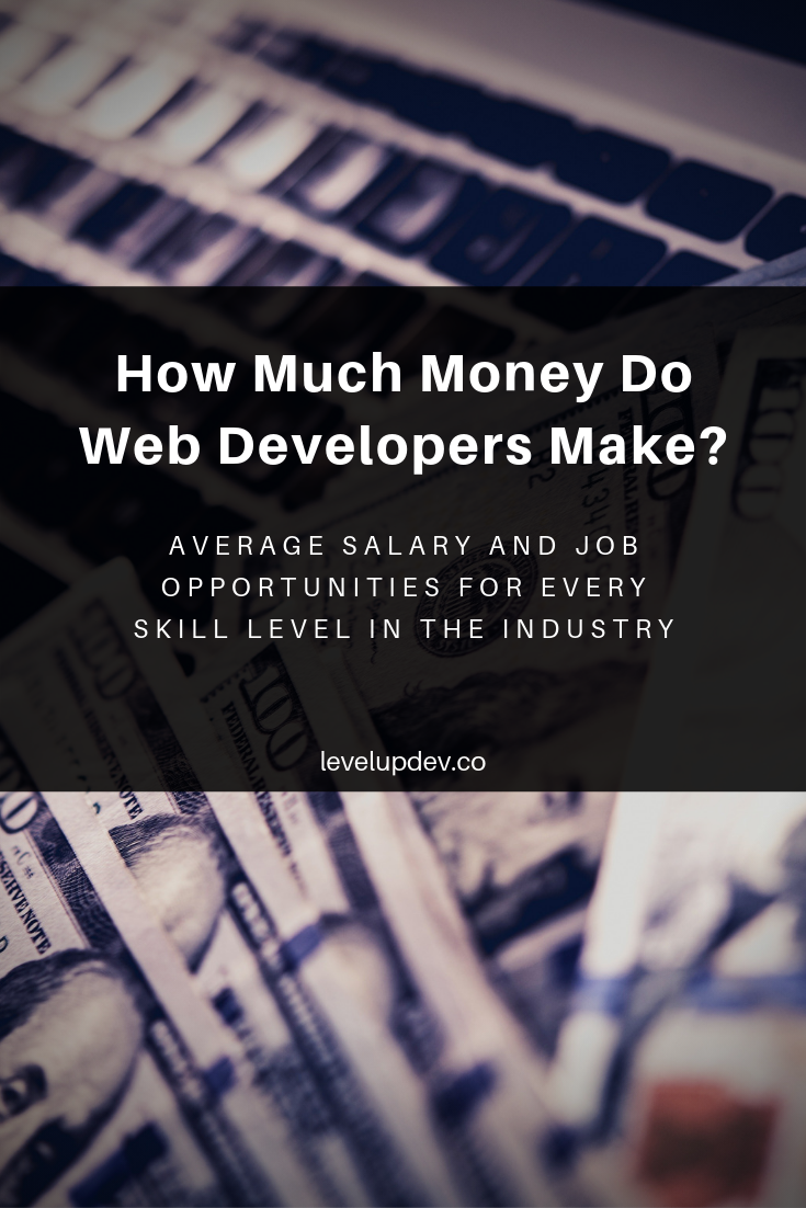 How Much Money Do Web Developers Make Average Salaries And Jobs Learn Web Development Web Development Web Developer Salary