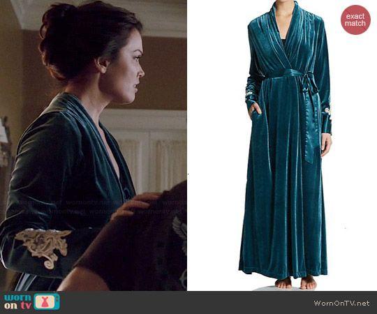 a317b958eb Mellie s blue velvet robe on Scandal. Outfit Details  http   wornontv.