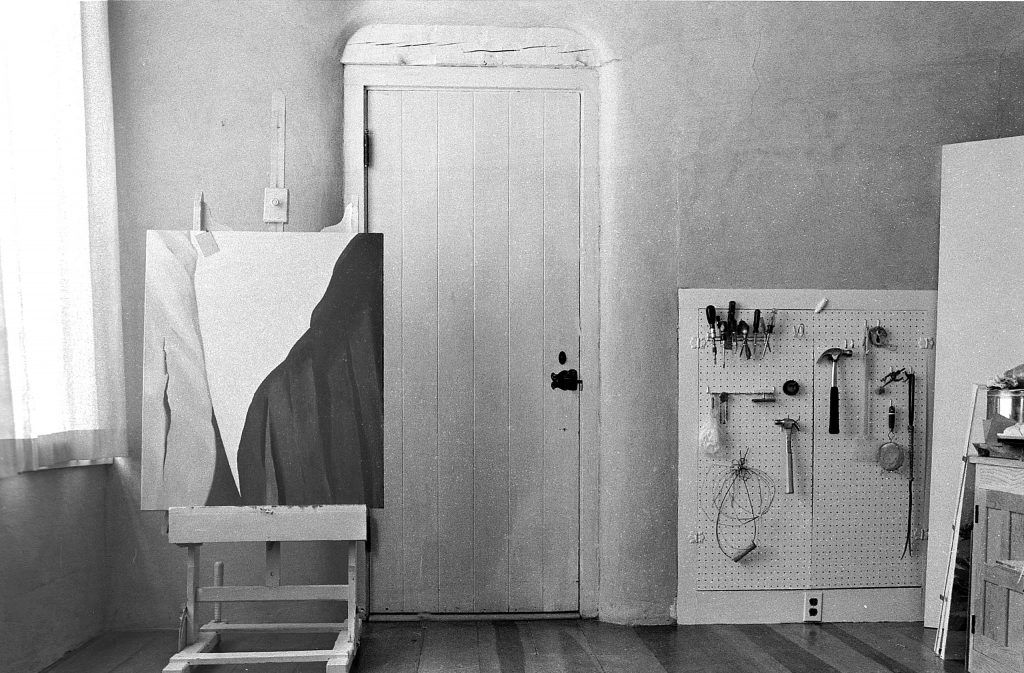 Georgia O'Keeffe's studio at Ghost Ranch, New Mexico.