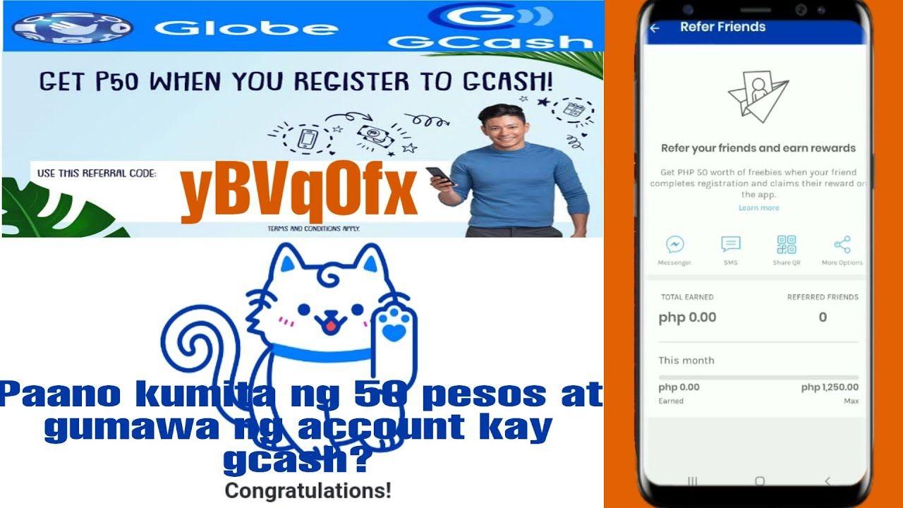 How to earned 20 pesos / 50 pesos and create an account e