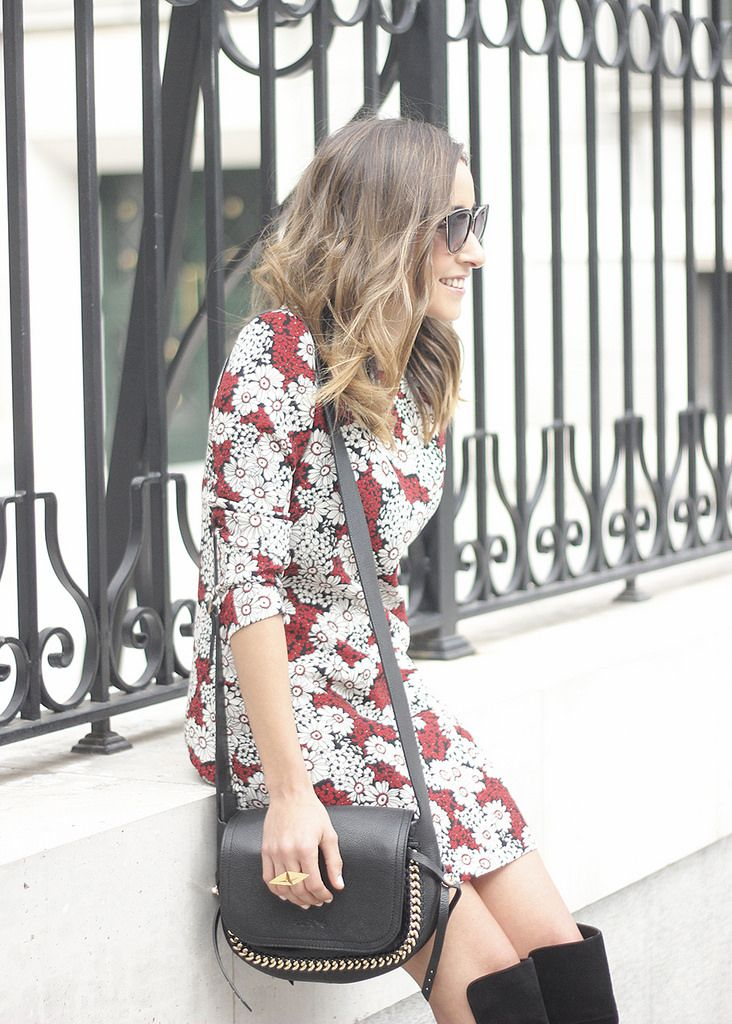 https://flic.kr/p/zCDh9W | floral dress with a seventies flavour and over the knees boots outfit12