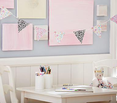 Kids Bedroom Bunting jenni kayne bunting garland #pbkids   girls room ideas   pinterest