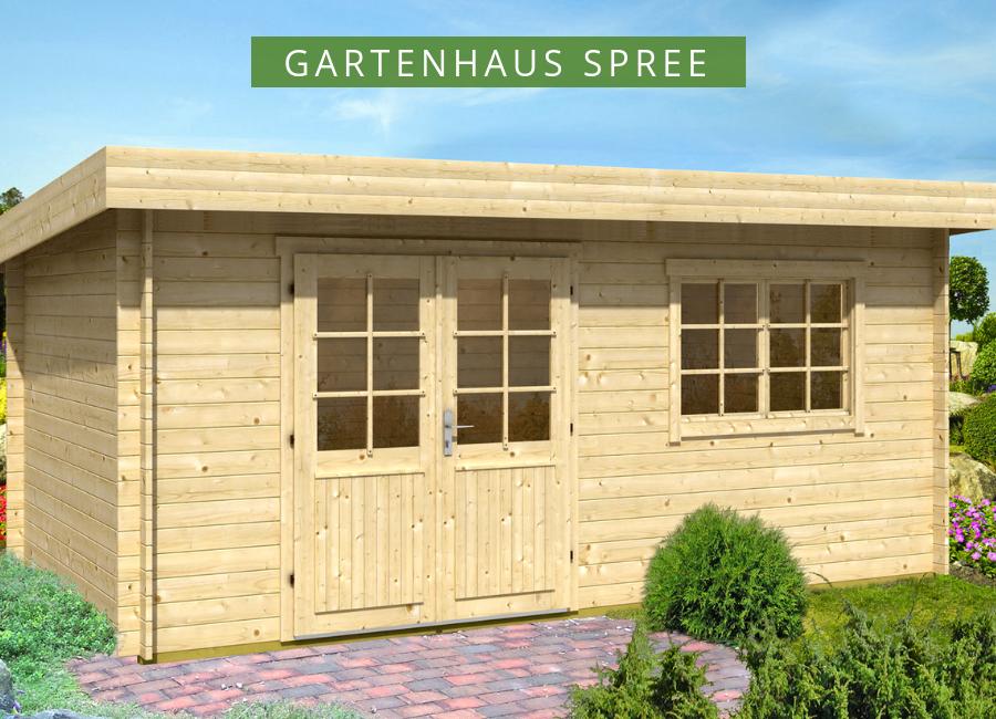 Gartenhaus Spree28 A Das moderne HolzGartenhaus mit