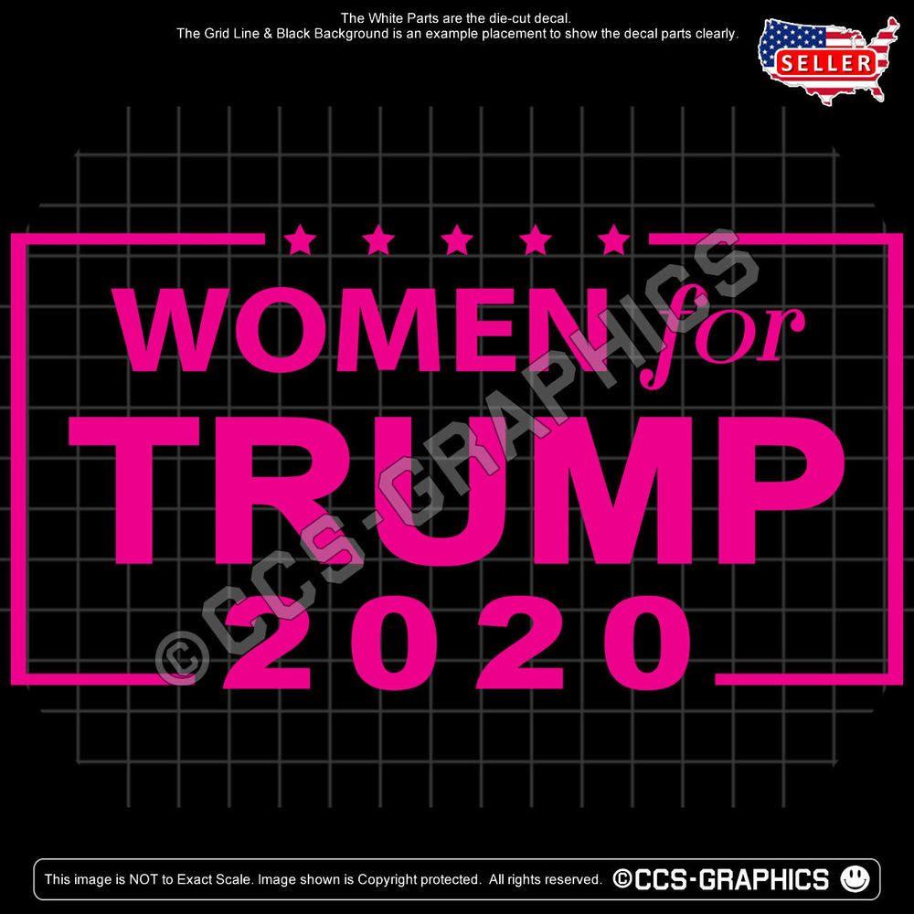 Fall 2020 Decals.Women For Trump 2020 Decal Car Window Usa Sticker Train