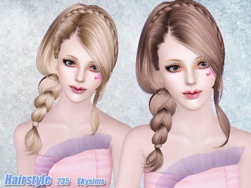 SkysimsHair235 Coiffure Femme (Sims 3) Sims 3, Sims