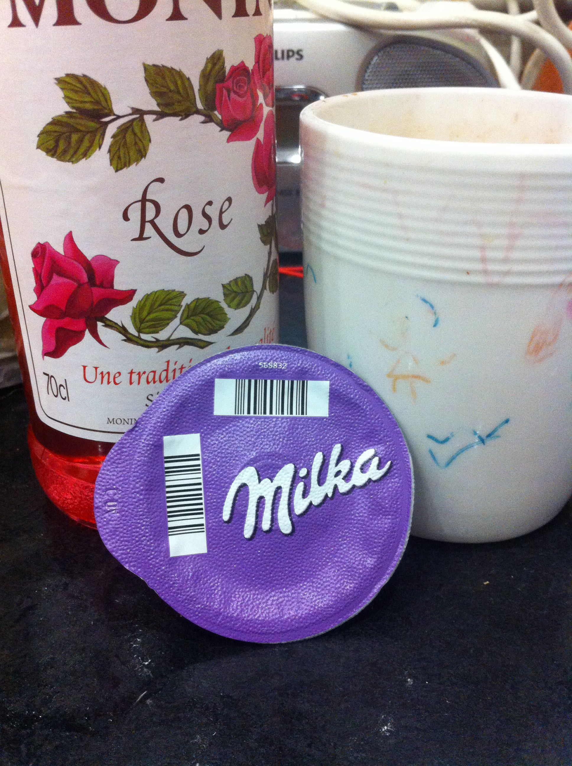Turkish Delight Hot Chocolate 1tsp Rose Syrup To 1 Milka
