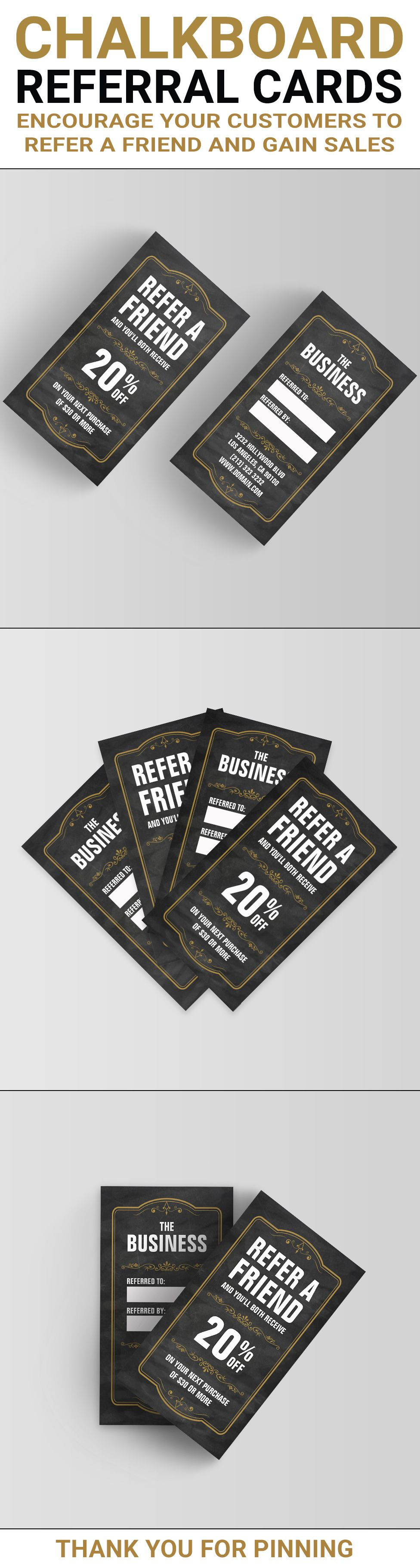 refer a friend referral cards encourage your customers to refer a