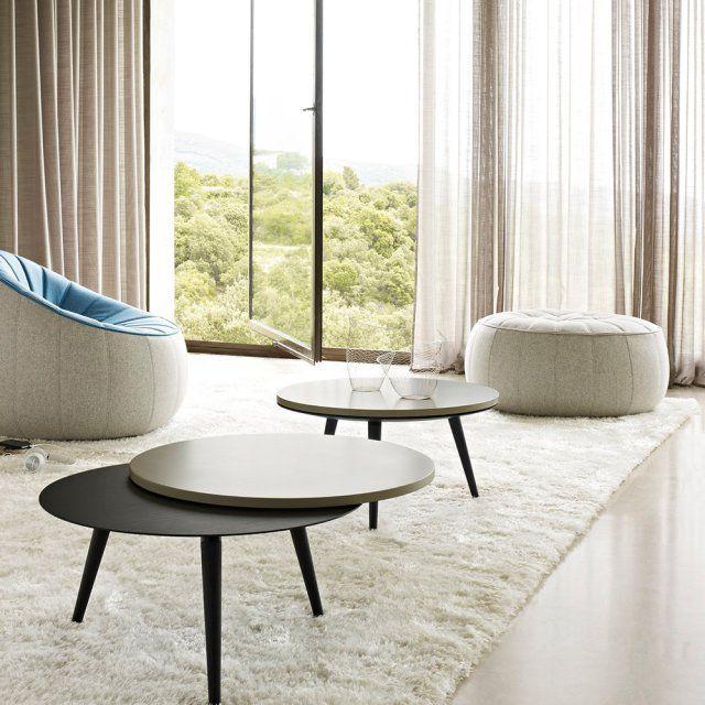 une table basse ronde pour un salon cosy table table. Black Bedroom Furniture Sets. Home Design Ideas