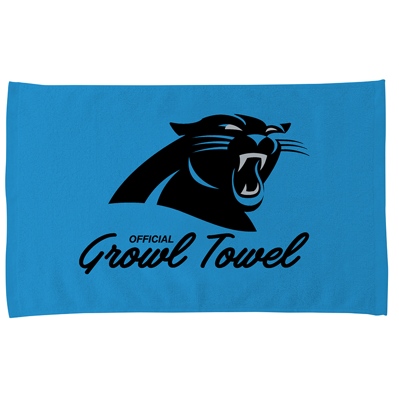 Cheap Carolina Panthers Blue Growl Towel | Bowling | Carolina panthers
