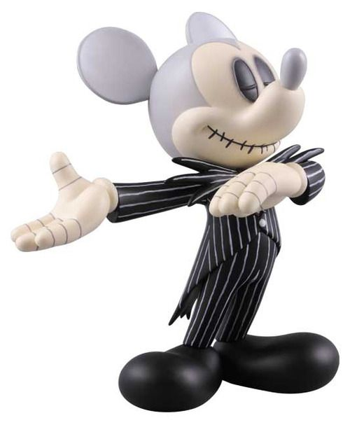 Even Mickey Mouse dresses up for Halloween...Mickey as Jack Skellington, gotta love that!