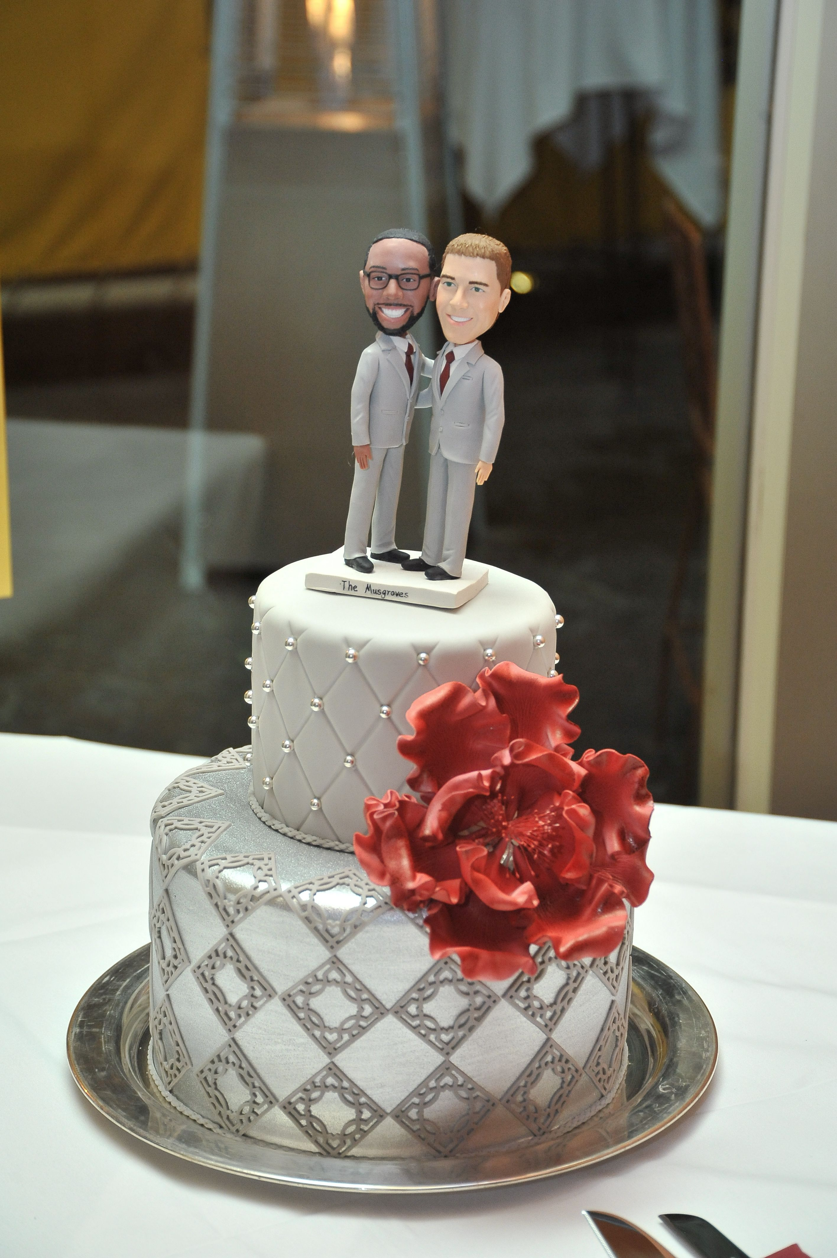 A custom wedding cake makes for a stunning statement on