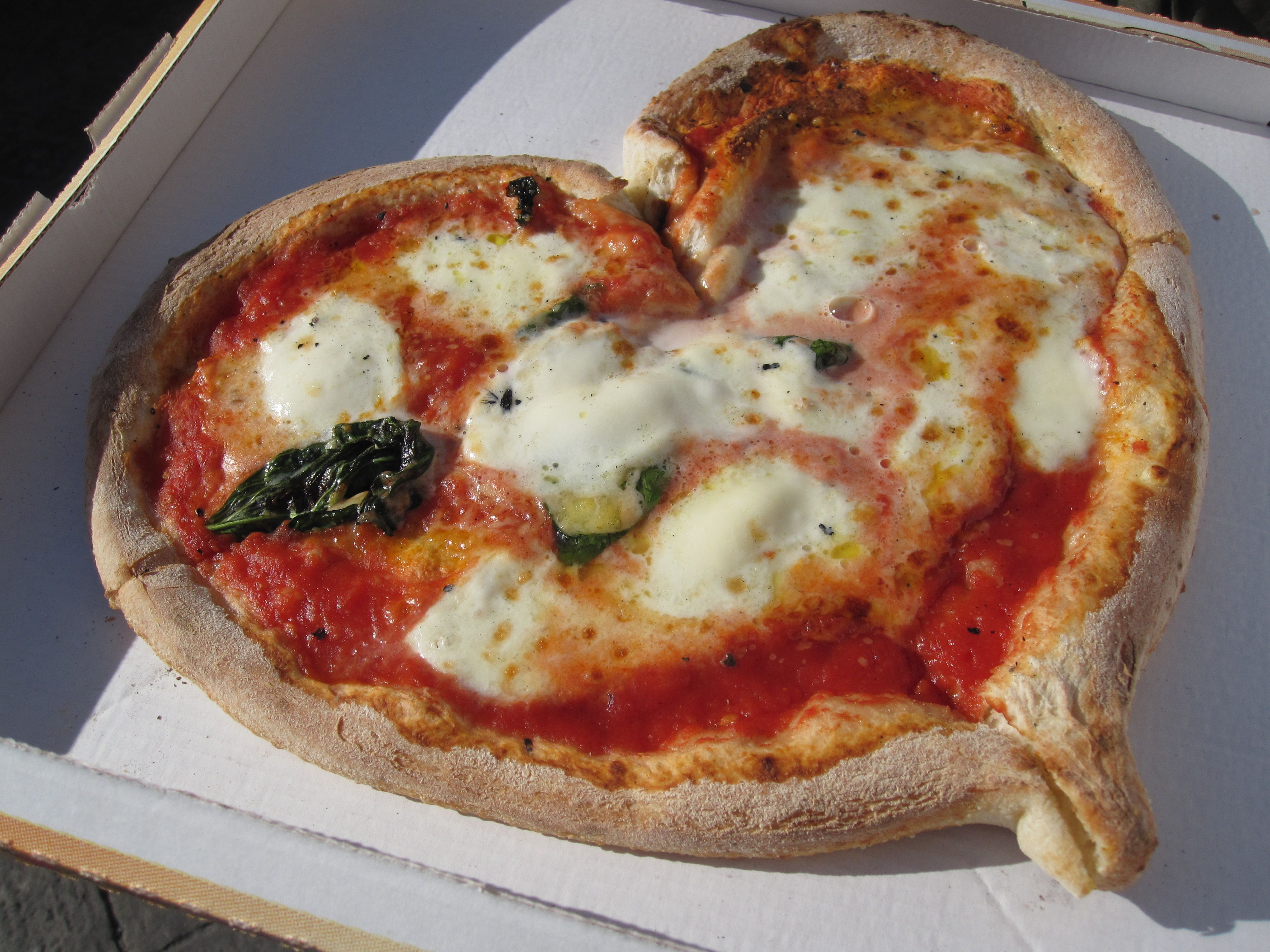 Gusta Pizza showing their love for their customers with a heart shape pizza  straight from the wood oven! Via Maggio 46R, Flor… | Food, Best fast food,  Good pizza