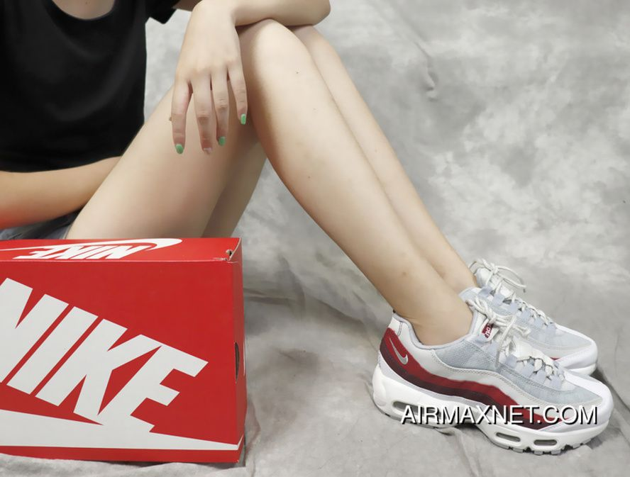 Nike Air Max 95 Essential 749766-103 Grey Red Correct Details Version Type  Workmanship Seal Whole Palm Zoom Difference Any Version Best 0b97d3acc