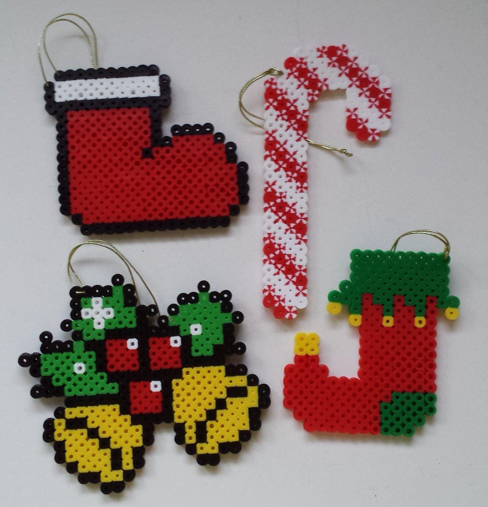 perler bead christmas ornaments by joanne schiavoni - Perler Beads Christmas
