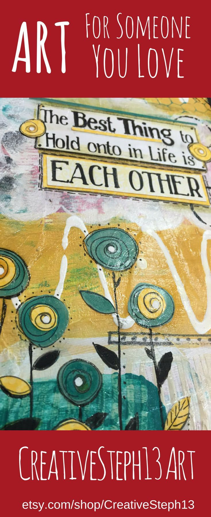Adt Quote The Best Thing To Hold Onto Is Each Other Art Print Love Quote .