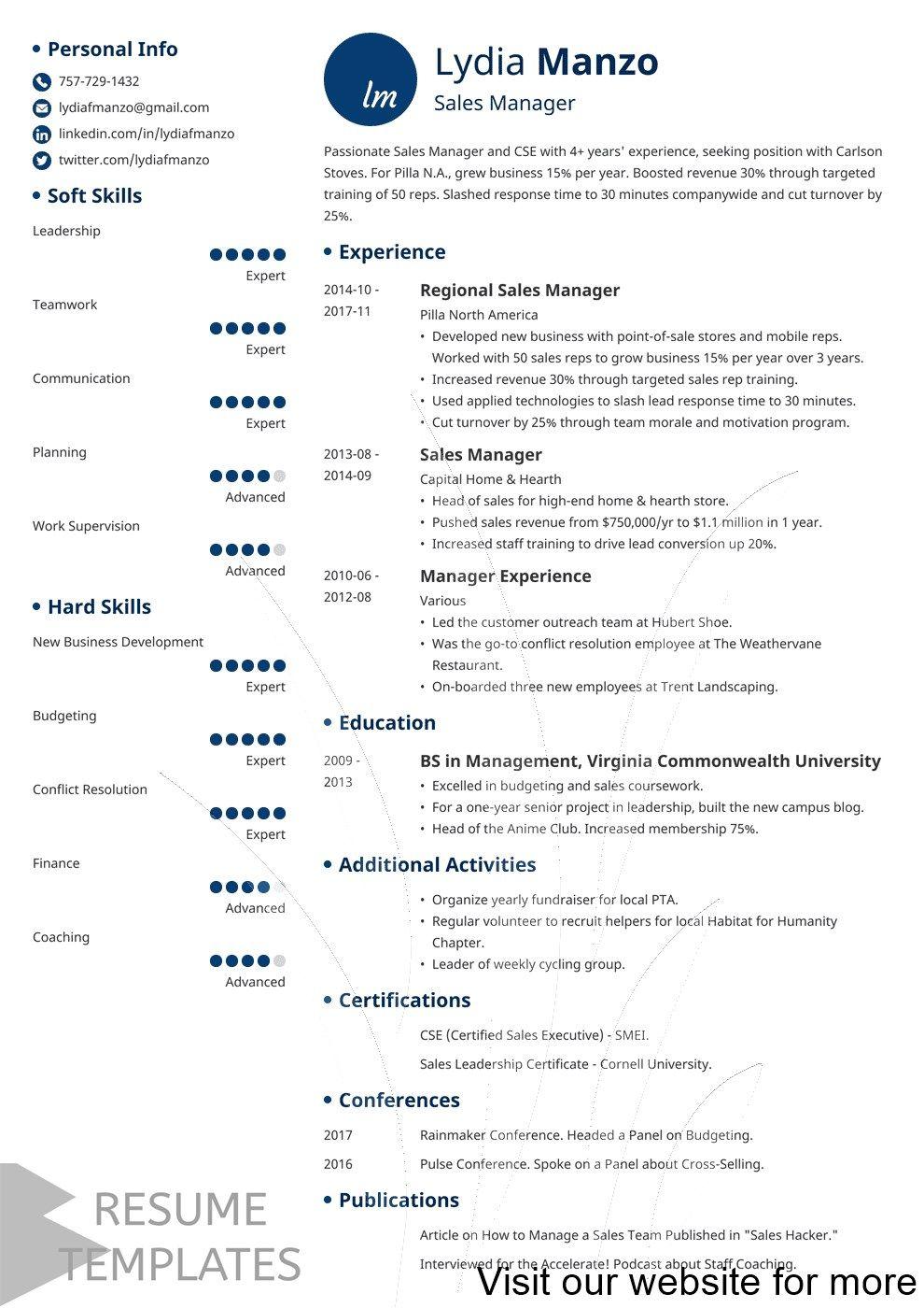 Pin On Cv For Job Resume Templates Free