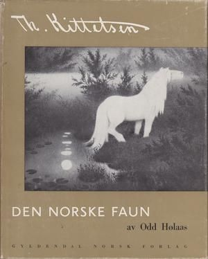 """Th. Kittelsen Den Norske Faun"" av Odd Holaas / Hølaas - without the dust-jacket - Bought used at a second hand bookshop"