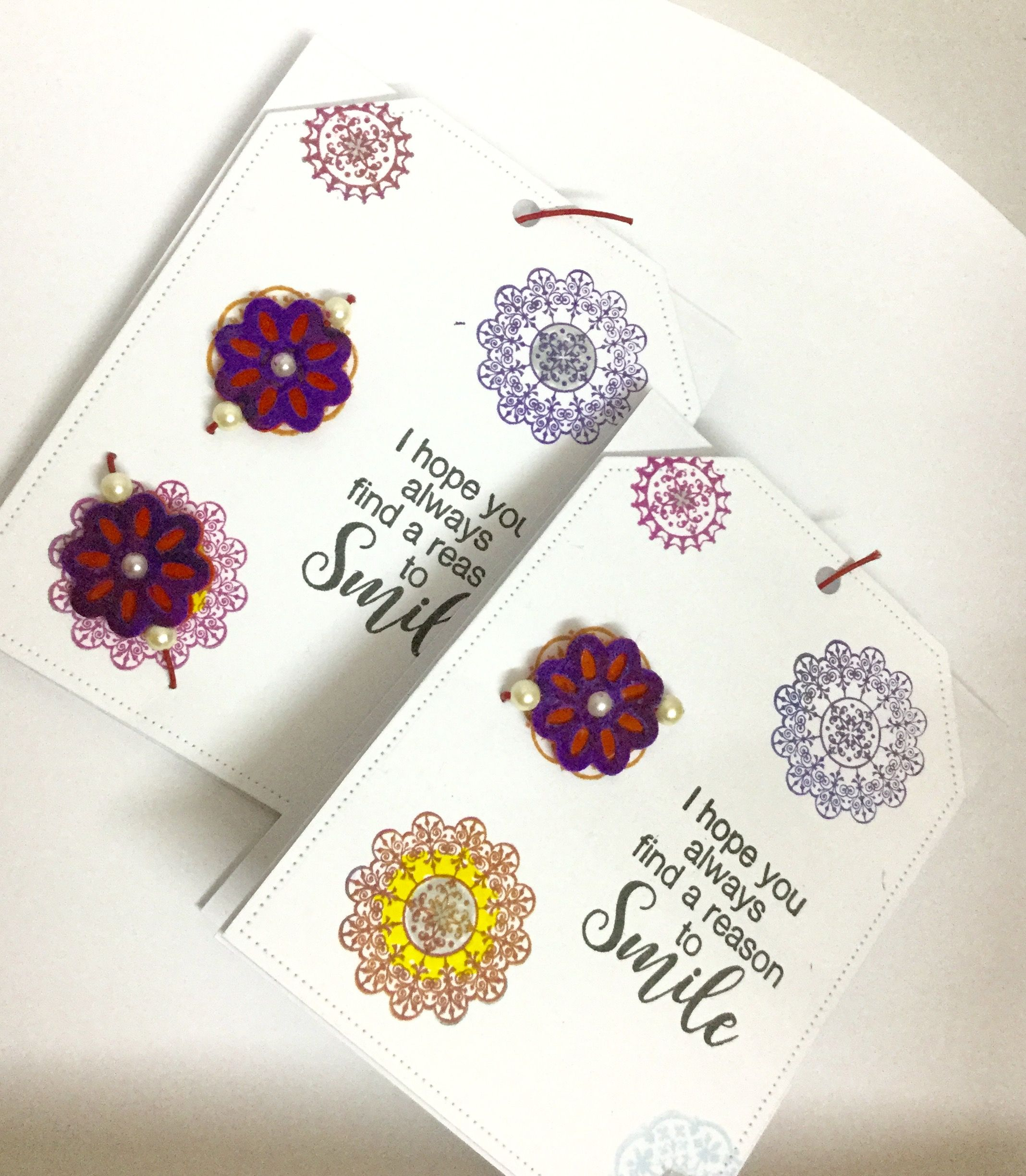 A quick rakhi card made with felt stamps and spellbinder dies a quick rakhi card made with felt stamps and spellbinder dies kristyandbryce Image collections