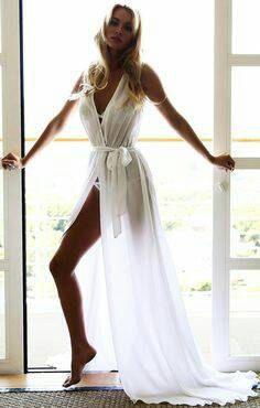 2558e433ce Brides Long White or Black Beach Kaftan Dress Cover Up. Hen Do ...