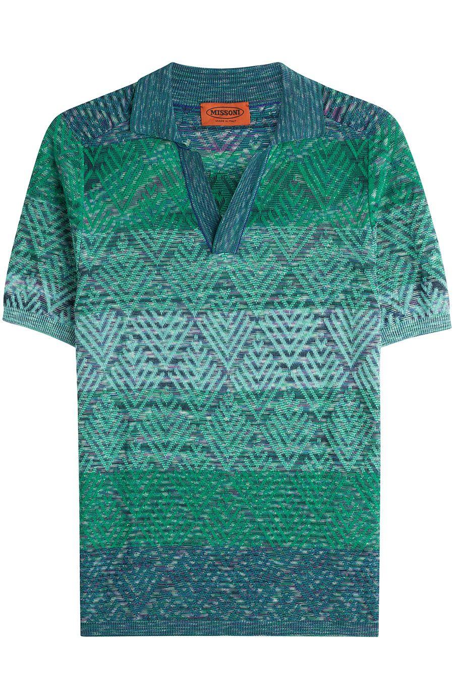 ab5a7ed08f1f MISSONI Patterned Polo Shirt. #missoni #cloth #t-shirts | Missoni ...