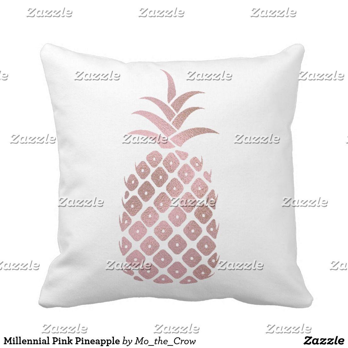 Millennial pink pineapple throw pillow millennialpink