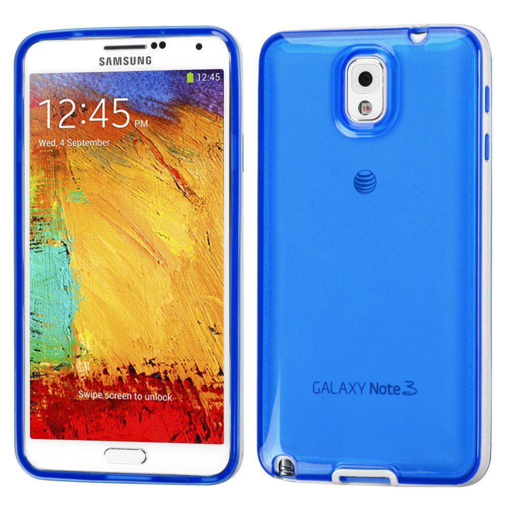 MYBAT Hybrid Candy Skin Case for Galaxy Note 3 - White Belly/Blue